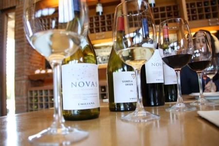 A limpidez dos vinhos brancos já revela o agradável sabor nos aguarda