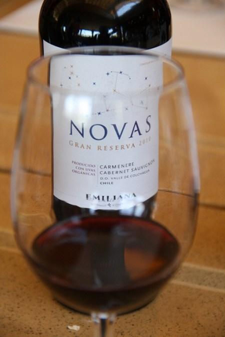 O Novas tinto mistura a Carménère com a Cabernet Sauvignon e lembra frutas maduras com um leve toque de pimenta doce