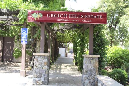 Entrada da famosa Grgich Hills Estate